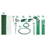 Maschendrahtzaun Set EBH, grün, H. 1000 mm - 15 m