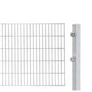 2m Doppelstabmatte 6-5-6 mit Pfosten fvz 2000x1000