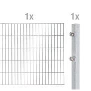 2m Doppelstabmatte 6-5-6 mit Pfosten fvz 2000x1400