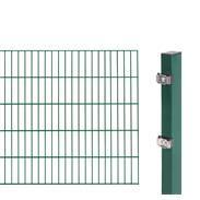 2m Doppelstabmatte 6-5-6 + Pfosten grün 2000x1000