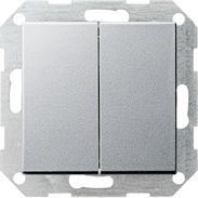 Gira Tast-Serienschalter aluminium System 55