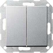 Gira Tast-Wechselschalter 2f. System 55 aluminium