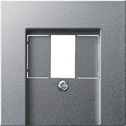 Gira Zentralplatte TAE alu System 55