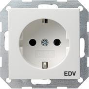 Gira Schuko-Steckdose rws-gl EDV System 55