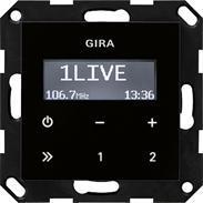 Gira UP-Radio RDS ohne Lautsprecher sw-o System 55