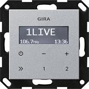 Gira UP-Radio RDS ohne Lautsprecher alu System 55