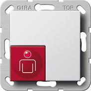 Gira Ruftaster reinweiss System 55