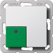 Gira Abstelltaster reinweiss System 55