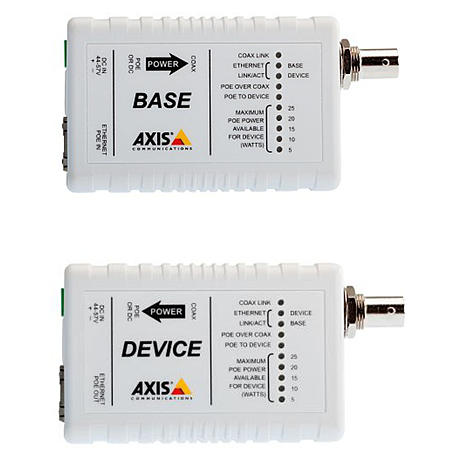 Axis T8640 POE+ OVER COAX ADAP, Base/Device Set