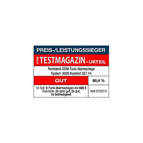 Pentatech GSM-Funkalarmanlage Komfort 3000SET F4