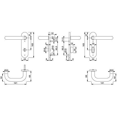 Paris E138Z/353K Bad-Garnitur Kurzschild WC