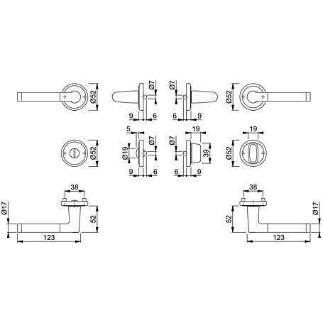Capri M1950/15KV/15KVS Bad-Garnitur WC