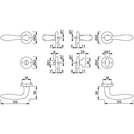 Genova M1535/19KV/19KVS Badgarnitur WC