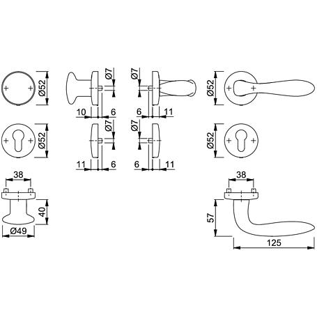 Genova M1535/19KV/19KVS Wechselgarnitur PZ