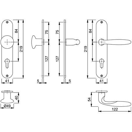 Verona M151/302 Wechselgarnitur Langschild PZ F71