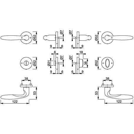 Verona M151/42KV/42KVS Badgarnitur WC F49-R
