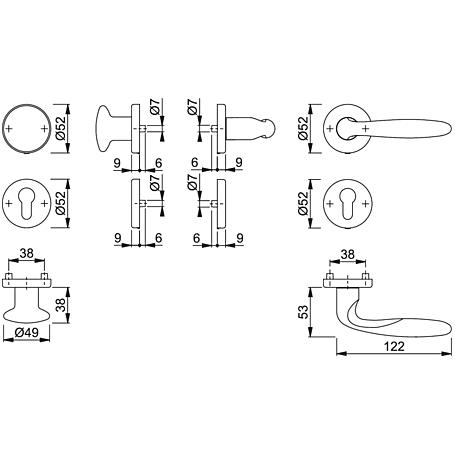 Verona M151/42KV/42KVS Wechselgarnitur PZ F49-R