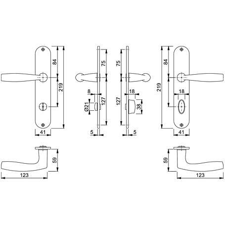 Vitória M1515/302 Badgarnitur Langschild WC