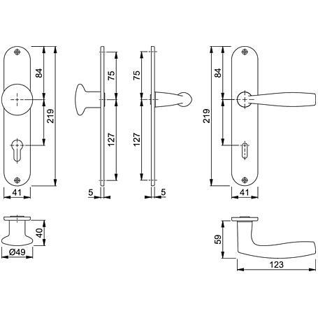 Vitória M1515/302 Wechselgarnitur Langschild PZ