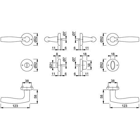 Vitória M1515/23KV/23KVS Badgarnitur WC