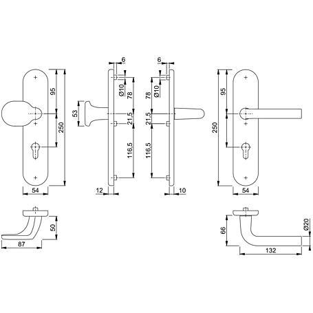 Bonn 86G/3331/3310/150 Wechselgarnitur 72mm F1