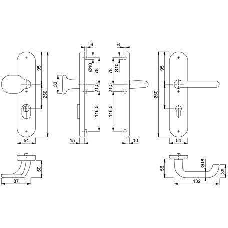 Paris 86G/3332ZA/3310/138L Wechselgarnitur 72mm F2