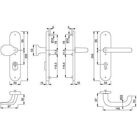 Paris 86G/3332ZA/3310/138L Wechselgarnitur 92mm F2