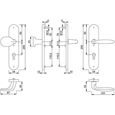 Verona 86G/3331/3310/1510 Wechselgarnitur 72mm F2