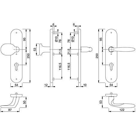 Verona M86G/3331/3310/151 Wechselgarnitur 92mm
