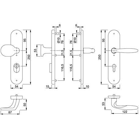 Verona M86G/3332ZA/3310/151 Wechselgarnitur 72mm