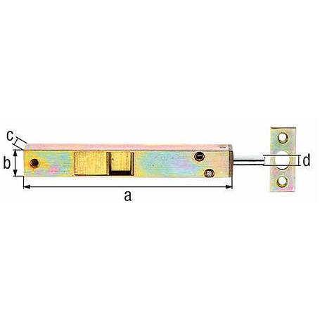 Rohrkantriegel mit Hebel gbvz 200x16x13