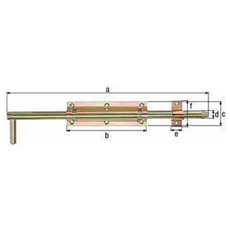 Bolzen-Stangenriegel gbvz m. Schlaufe 600/Ø18mm