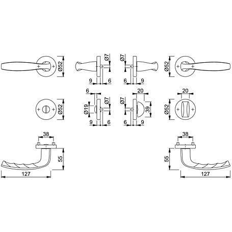 New York 1810/42KV/42KVS Badgarnitur WC F9