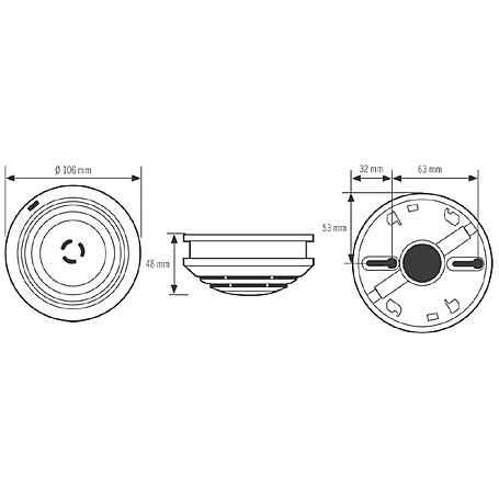 Esylux Rauchmelder ER10018930 PROTECTOR K 9V-Lith.
