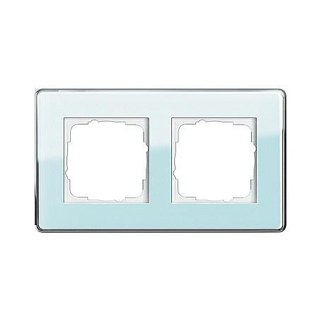 Gira Abdeckrahmen 2fach Glas C mint Esprit