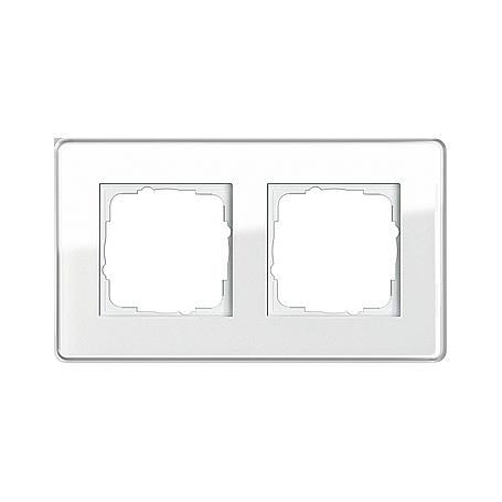 gira abdeckrahmen 2fach glas c ws esprit expert. Black Bedroom Furniture Sets. Home Design Ideas