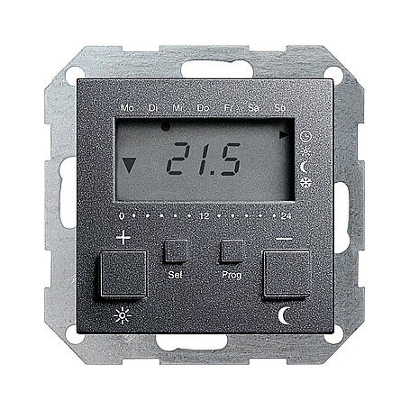 Gira RT-Regler 230 V mit Uhr anth System 55