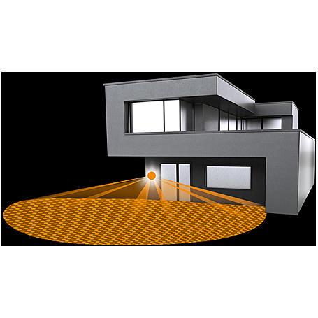 Steinel Sensor-Leuchte LED 8W IP44 L 680 Glas ws