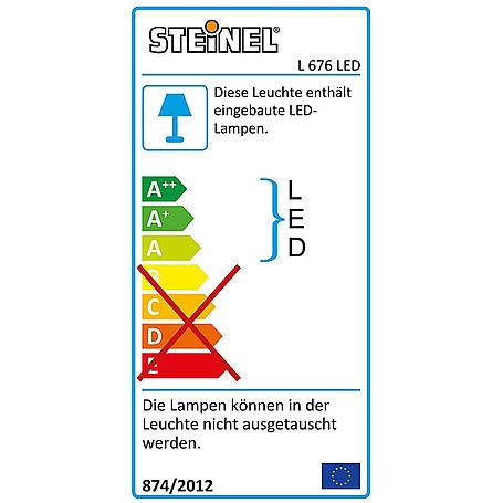 Steinel Sensor-Leuchte LED 9W IP44 L 676 LED alu-s