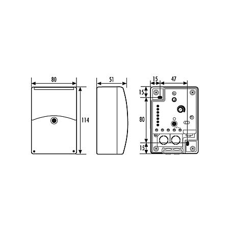 Esylux Dämmerungsschalter m. Zeitschaltuhr CdS-A/T