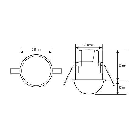 Esylux Deckenbewegungsmelder MD-CE360i/24 op-matt