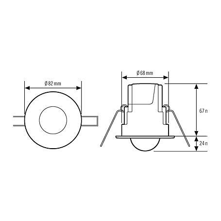 Esylux Deckenbewegungsmelder MD-CE360i/8 op-matt