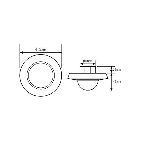 Esylux Decken-Bewegungsmelder MD-C360i/24 ws