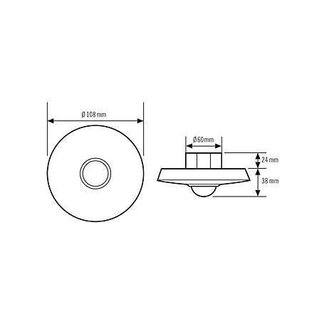 Esylux Deckenbewegungsmelder MD-C360i/8
