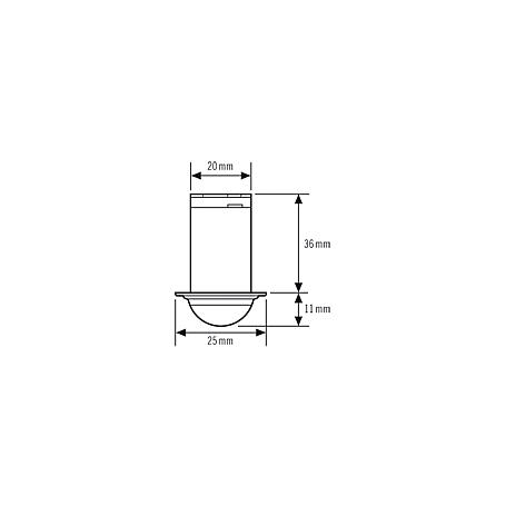 Esylux Deckeneinbau-Präsenzmelder PD-C360i/6 mini