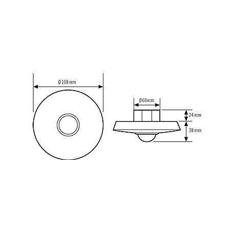 Esylux Decken-Präsenzmelder PD-C360i/8 DC24Vplus