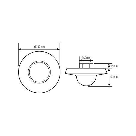 Esylux Decken-Präsenzmelder PD 360/24 Slave ws