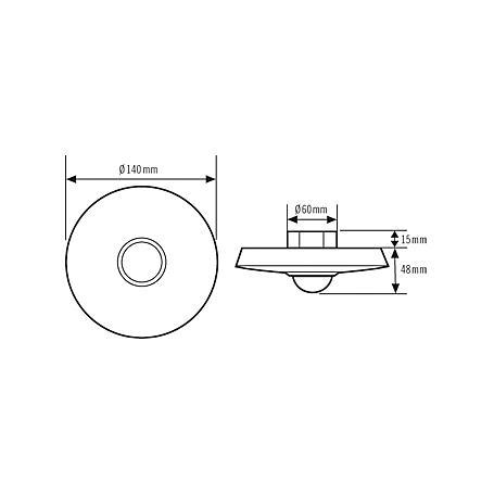 Esylux Decken-Präsenzmelder PD 360/8 Slave ws
