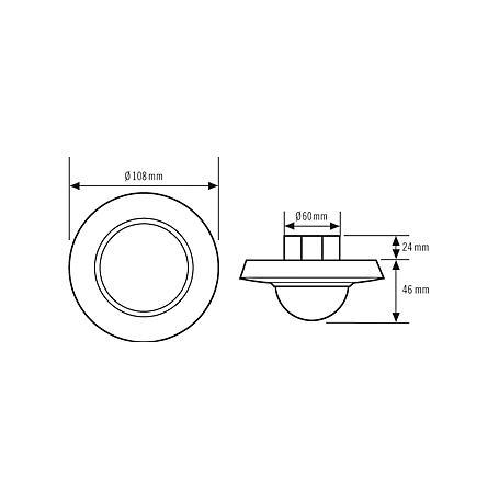 Esylux Decken-Präsenzmelder PD-C360/24 Slave ws