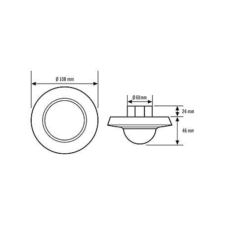 Esylux Decken-Präsenzmelder PD-C360i/24 DIM ws